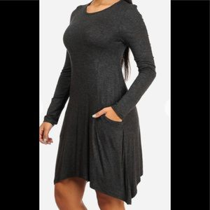 Dresses & Skirts - Casual gray pocketed dress cute for summer time